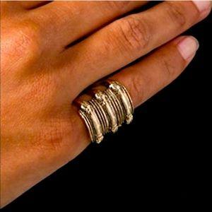 LOW LUV x Erin Wasson gold antique snake boho ring